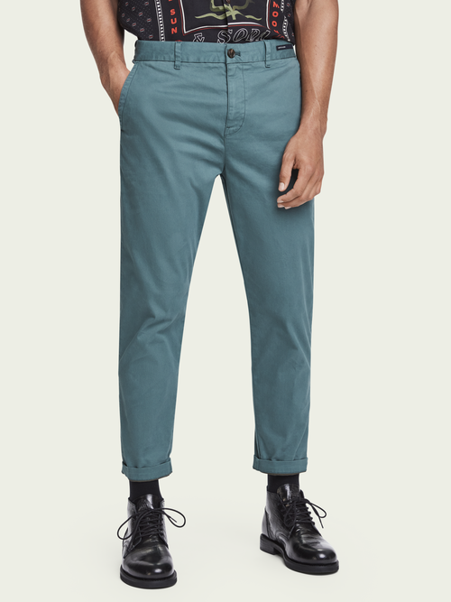 Scotch & Soda FAVE LOOSE TAPERED FIT COTTON CHINO