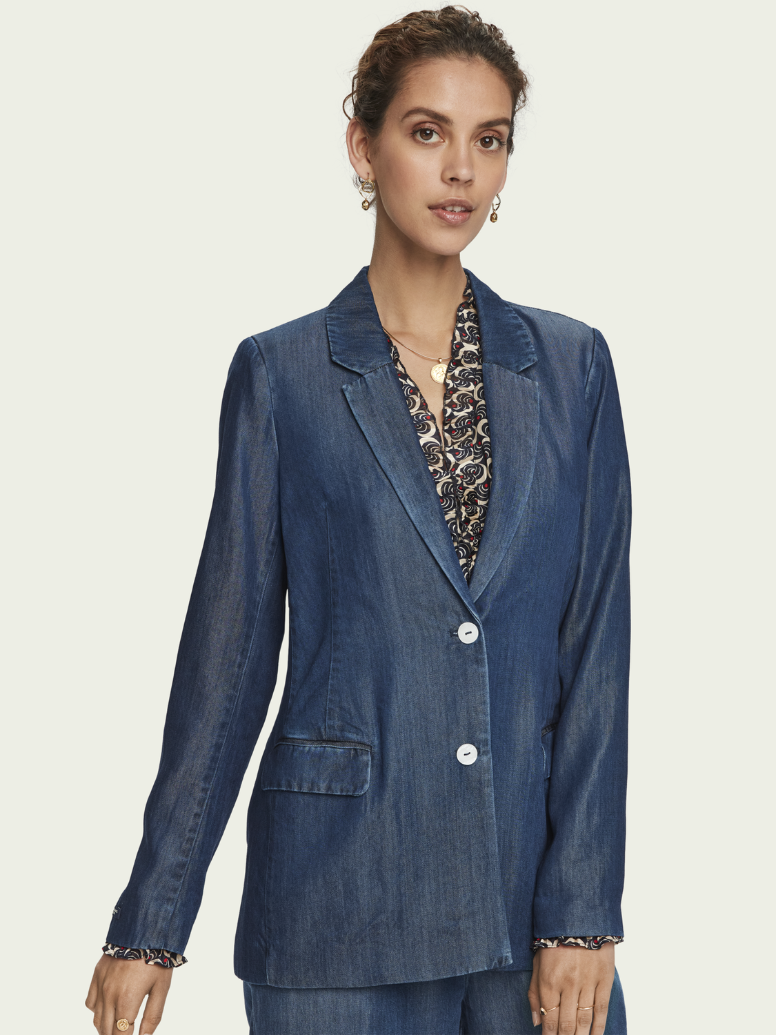 Women TENCEL™ denim blazer