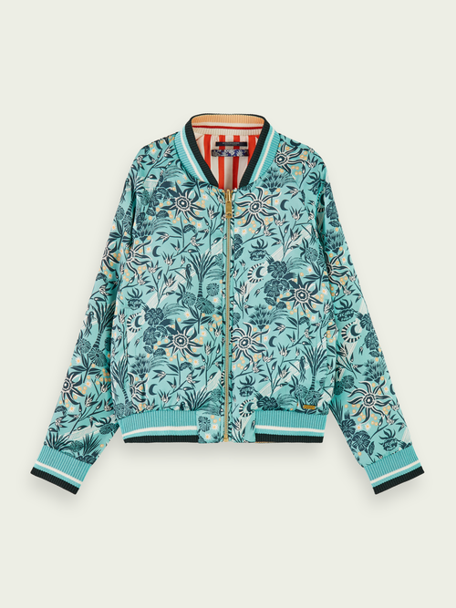 SCOTCH & SODA REVERSIBLE PRINTED BOMBER JACKET