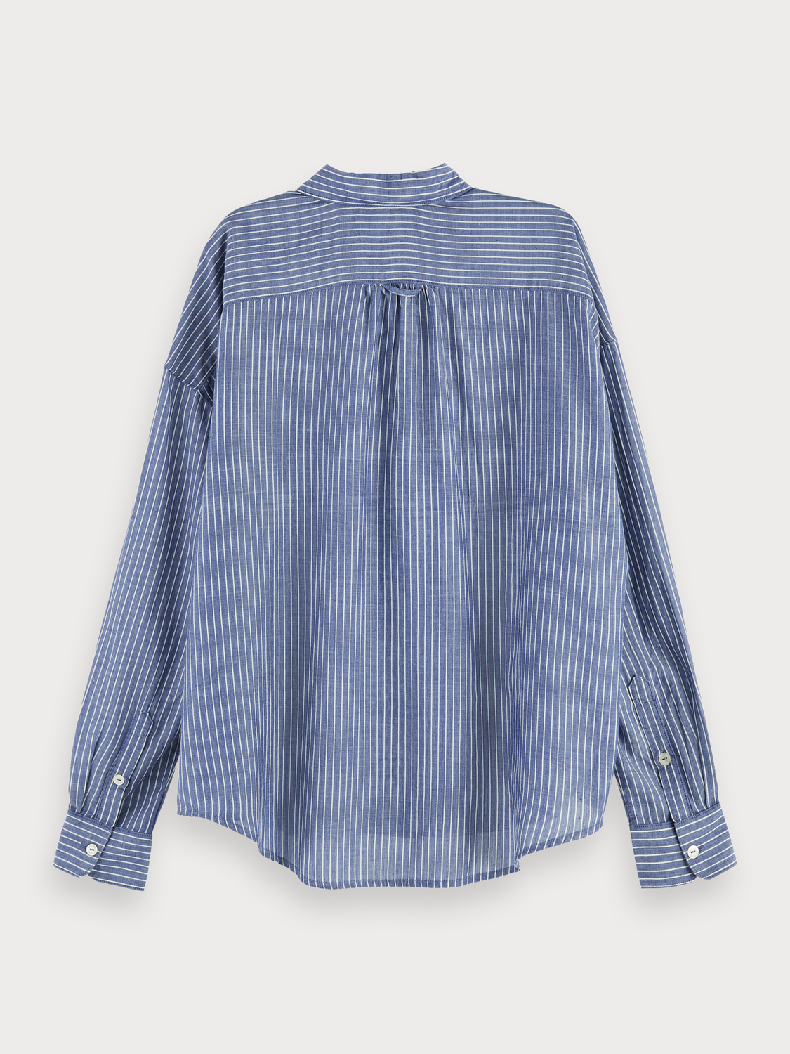 Mujer Long sleeve striped button up shirt