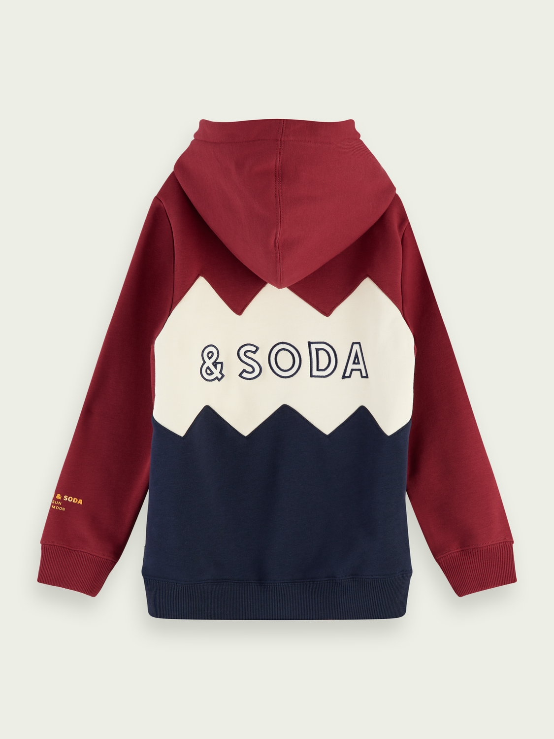 Kids Cut-and-sewn colour block hoodie