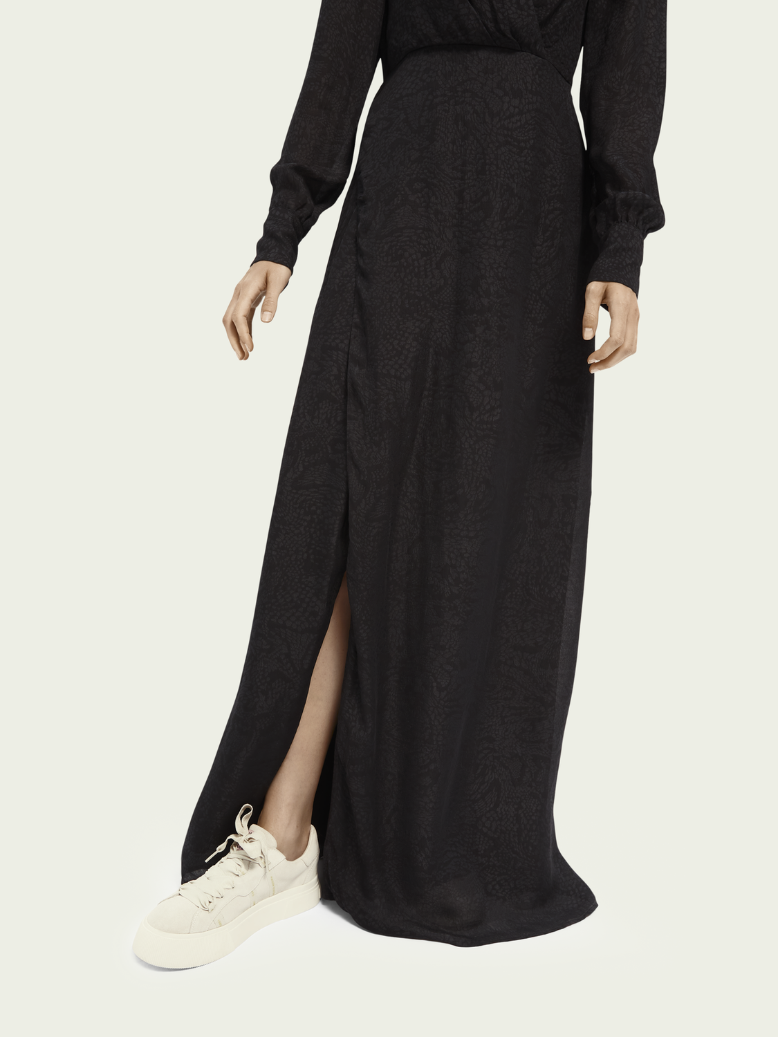 Women Snake pattern maxi wrap dress