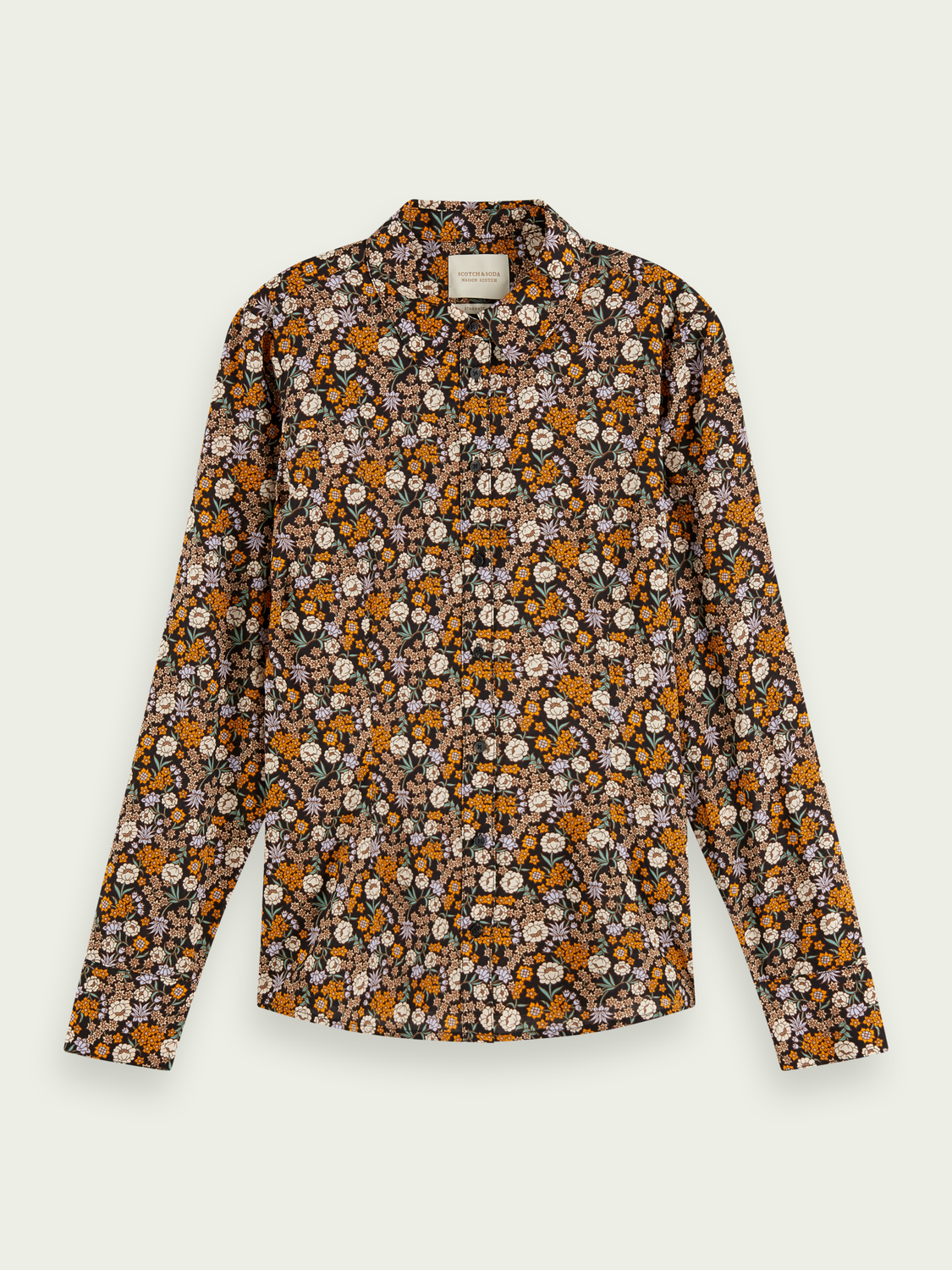 Dames Slim fit blouse van een katoenmix