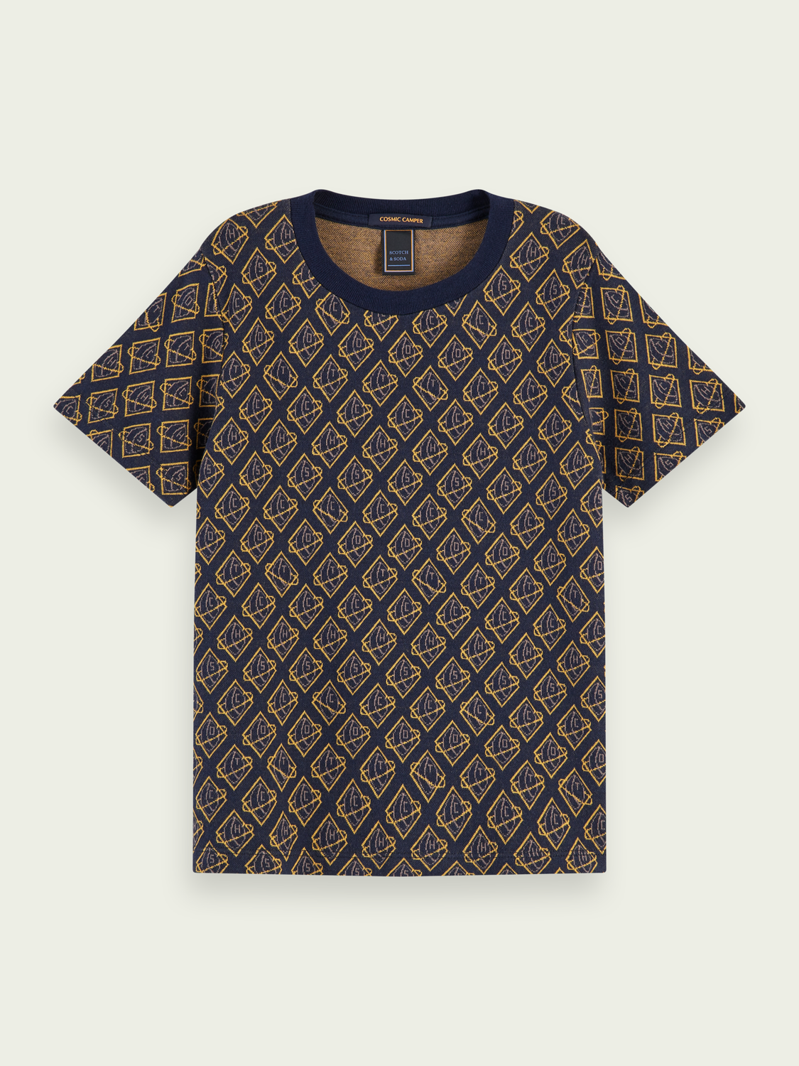 Boys Jacquard patterned short sleeve t-shirt