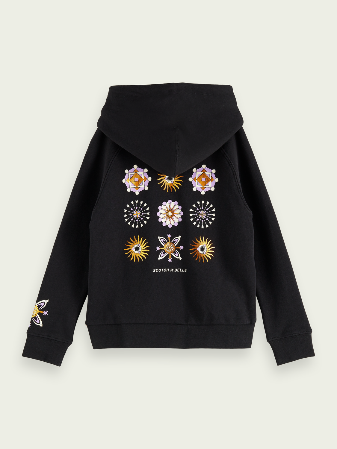Girls 100% cotton wrap over artwork hoodie