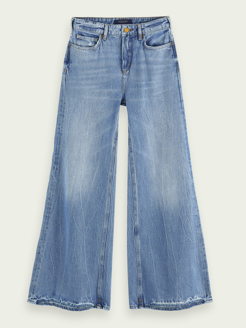 Scotch & Soda EXTRA WIDE LEG - BLUE BUTTER HIGH-RISE JEANS