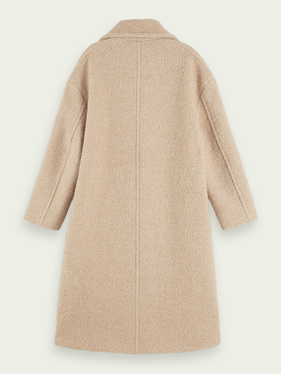 Women Oversized double-breasted boucle coat