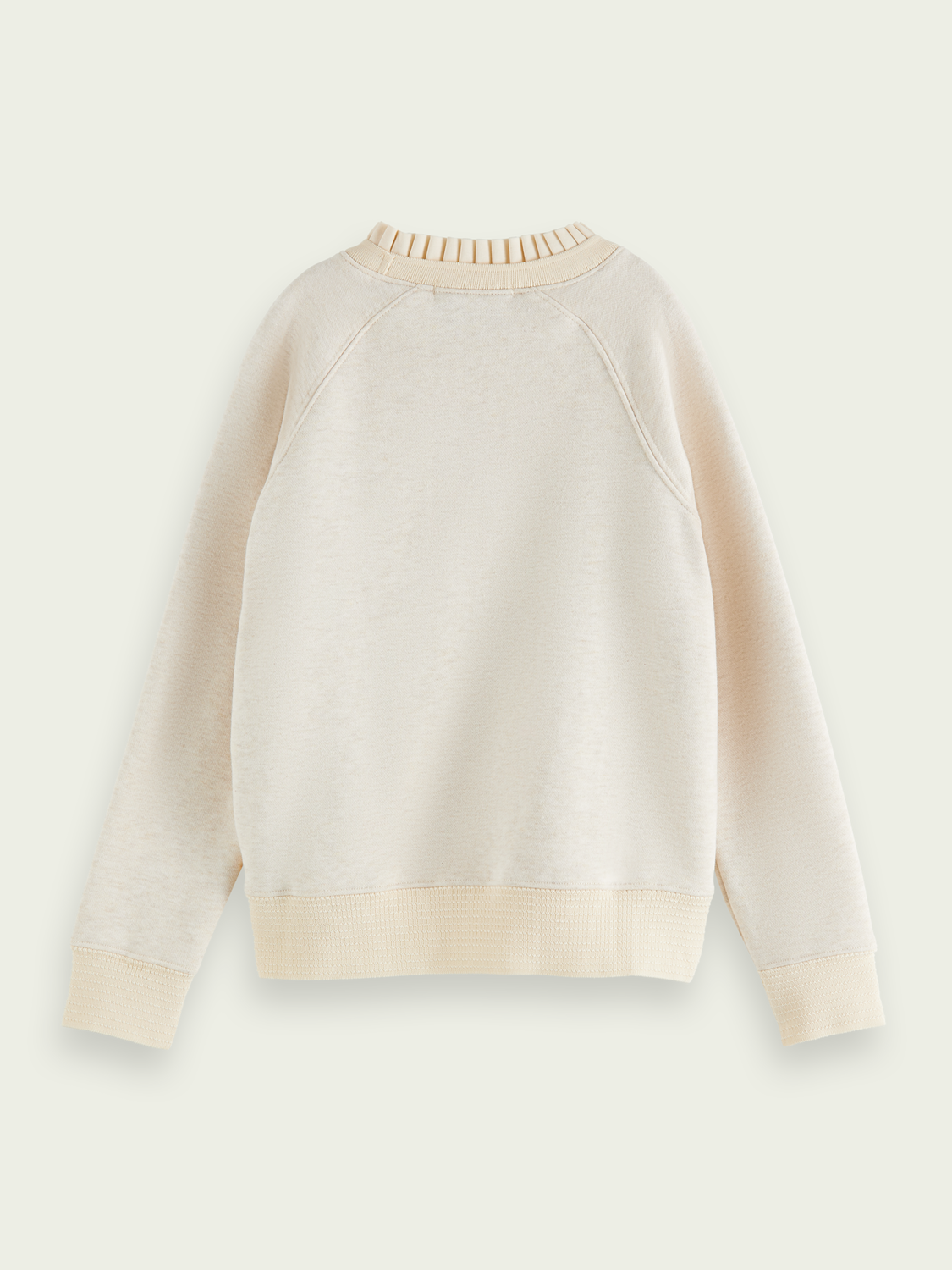 Kids Ruched neck cotton-blend sweatshirt