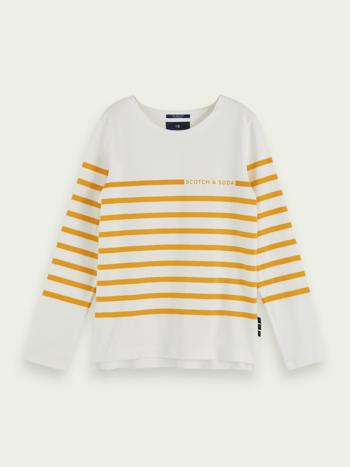 Kids 100% cotton Breton stripe long sleeve t-shirt