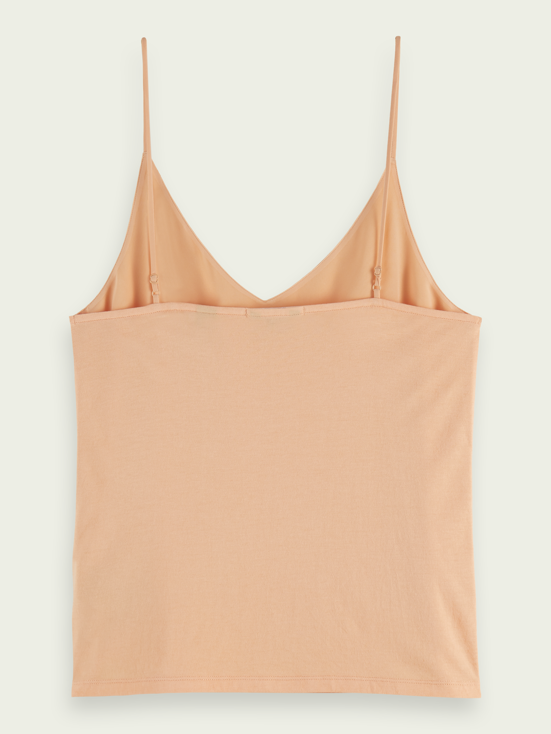 Women Cotton-blend V-neck spaghetti strap tank top