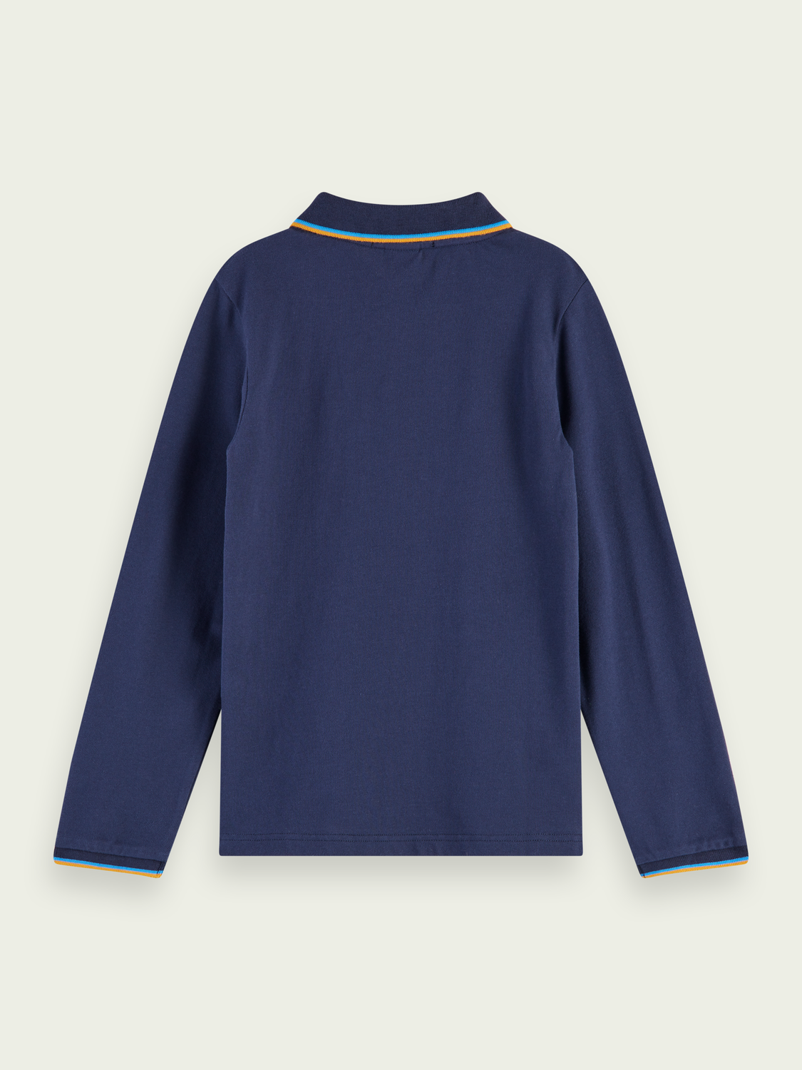 Kids Long sleeve pique cotton polo shirt