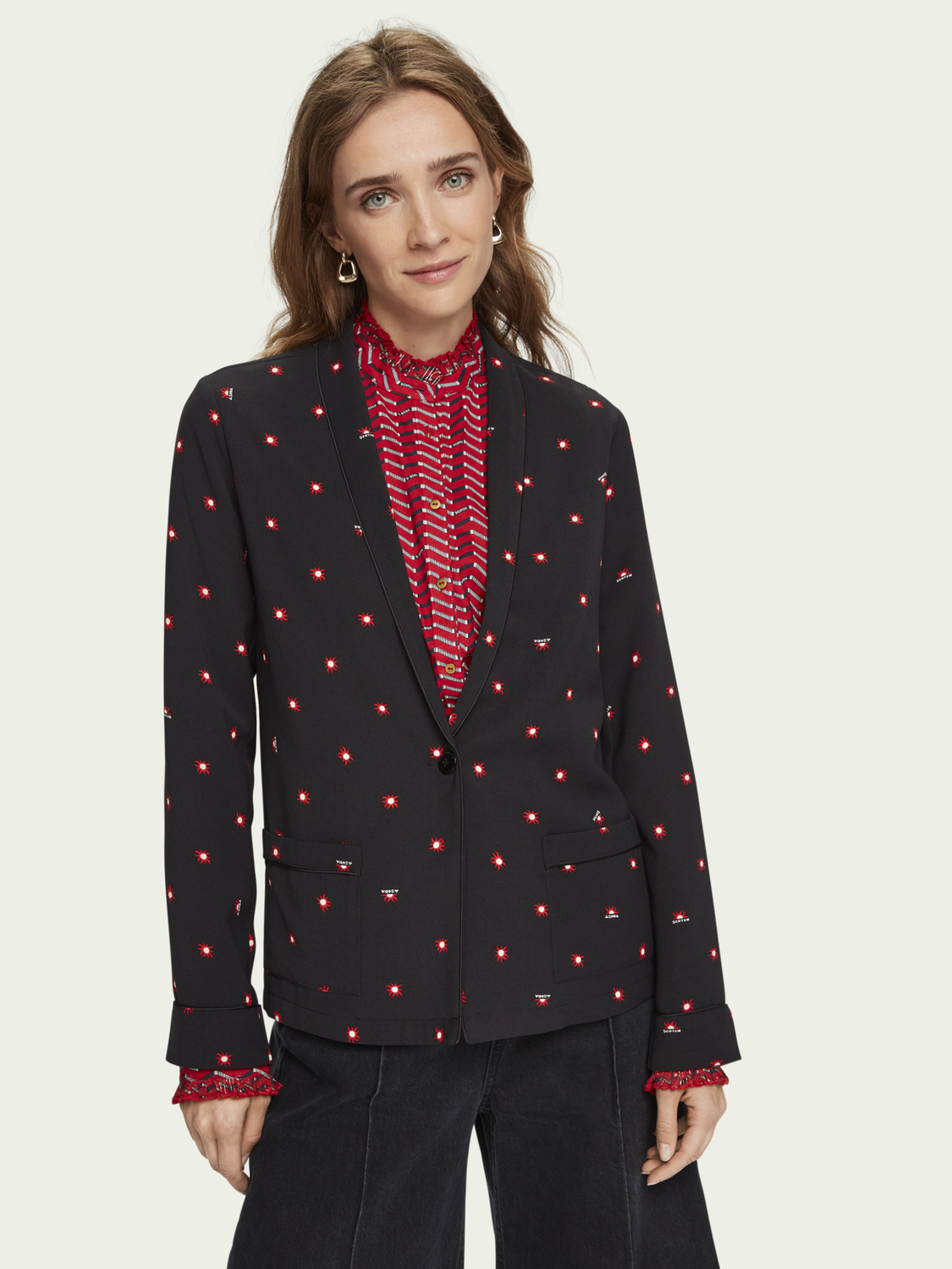 Women All-over printed blazer