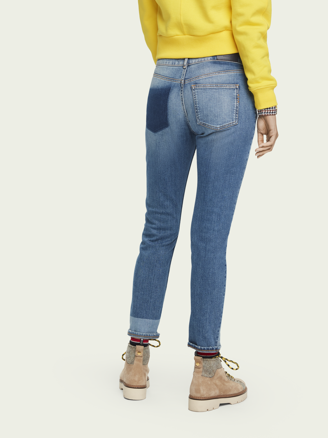 Dames The Keeper - City Patchwork | Mid rise slim fit jeans