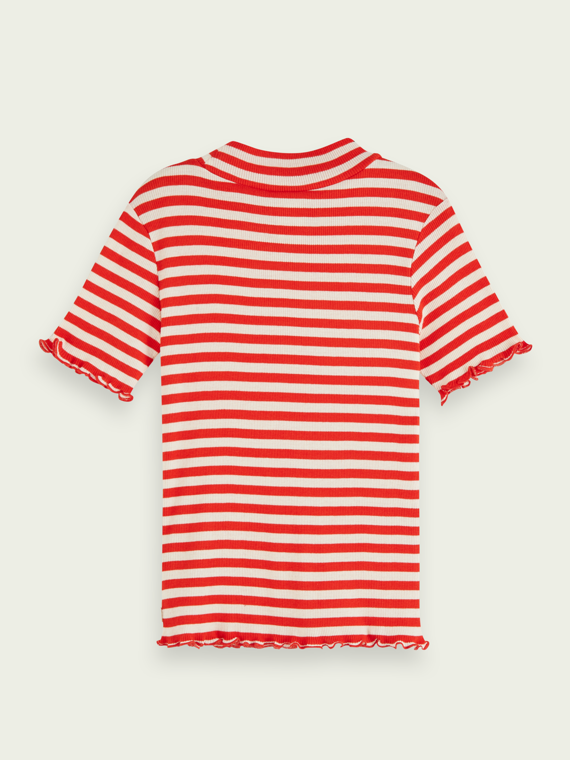Girls Fitted short sleeve striped t-shirt