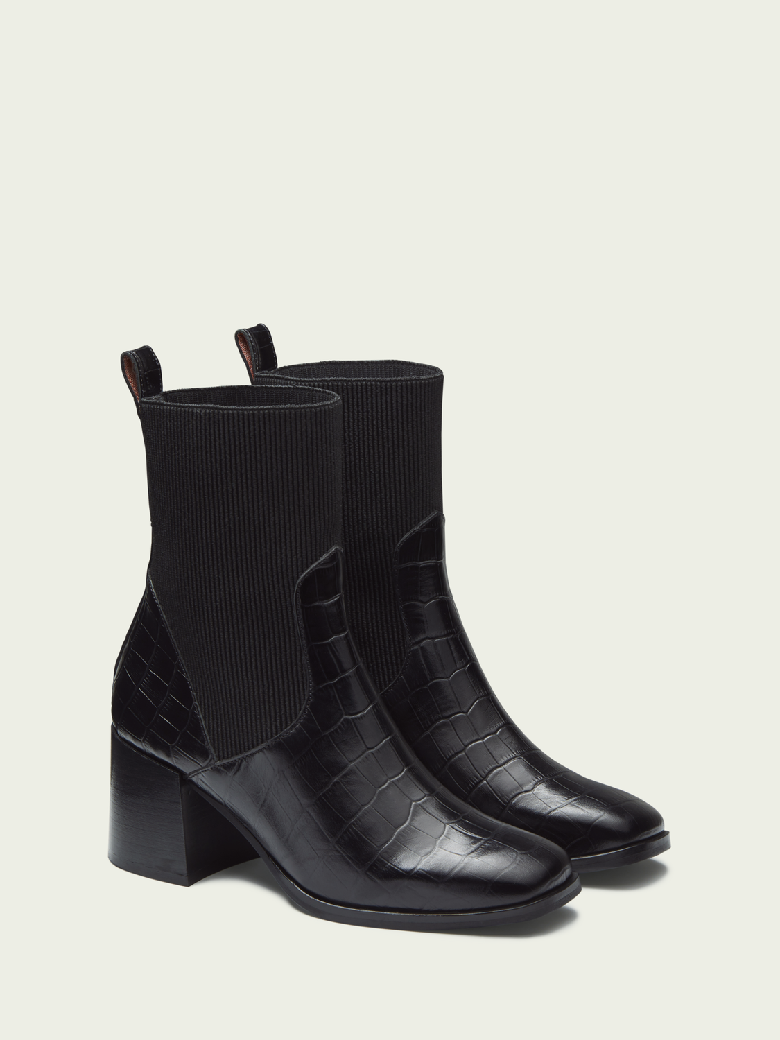 Women Florence - heeled leather ankle boots