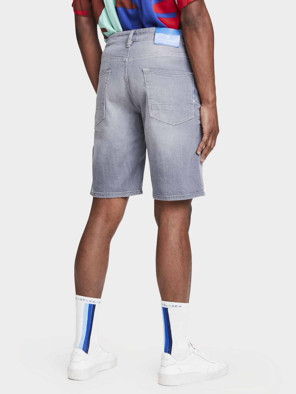 Herrar Ralston Short - Stone and Sand | Shorts i stretchdenim