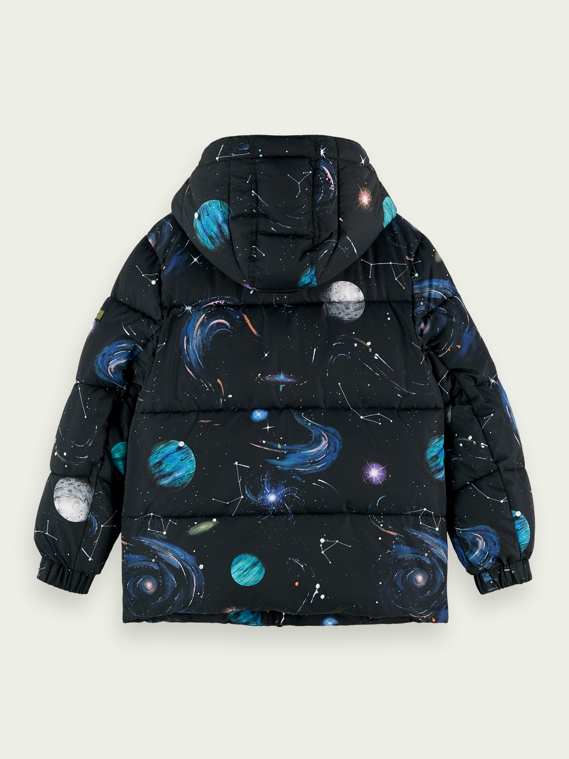 Kids Space artwork puffer jacket