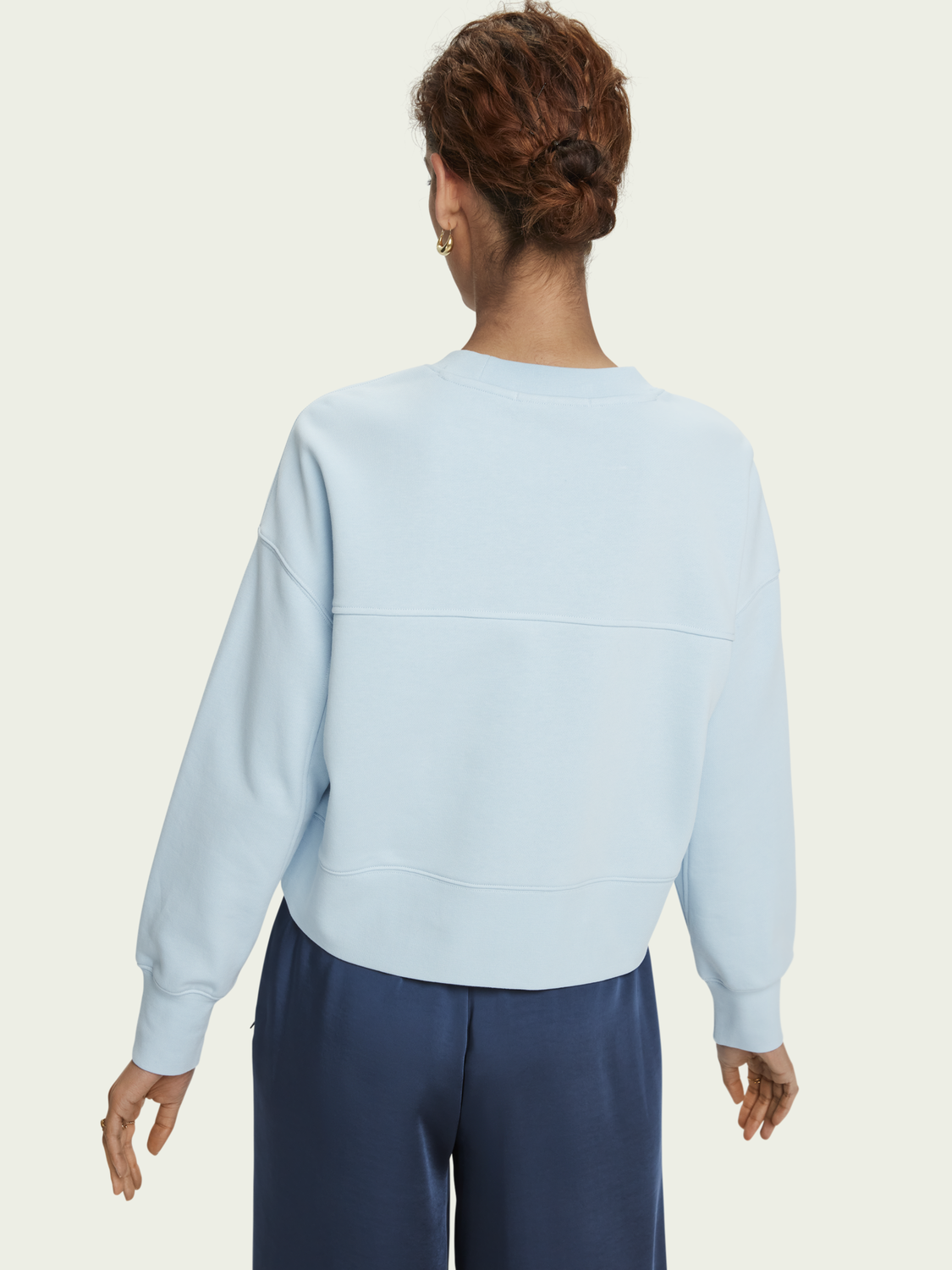 Dames Loose fit cotton-blend crewneck sweatshirt