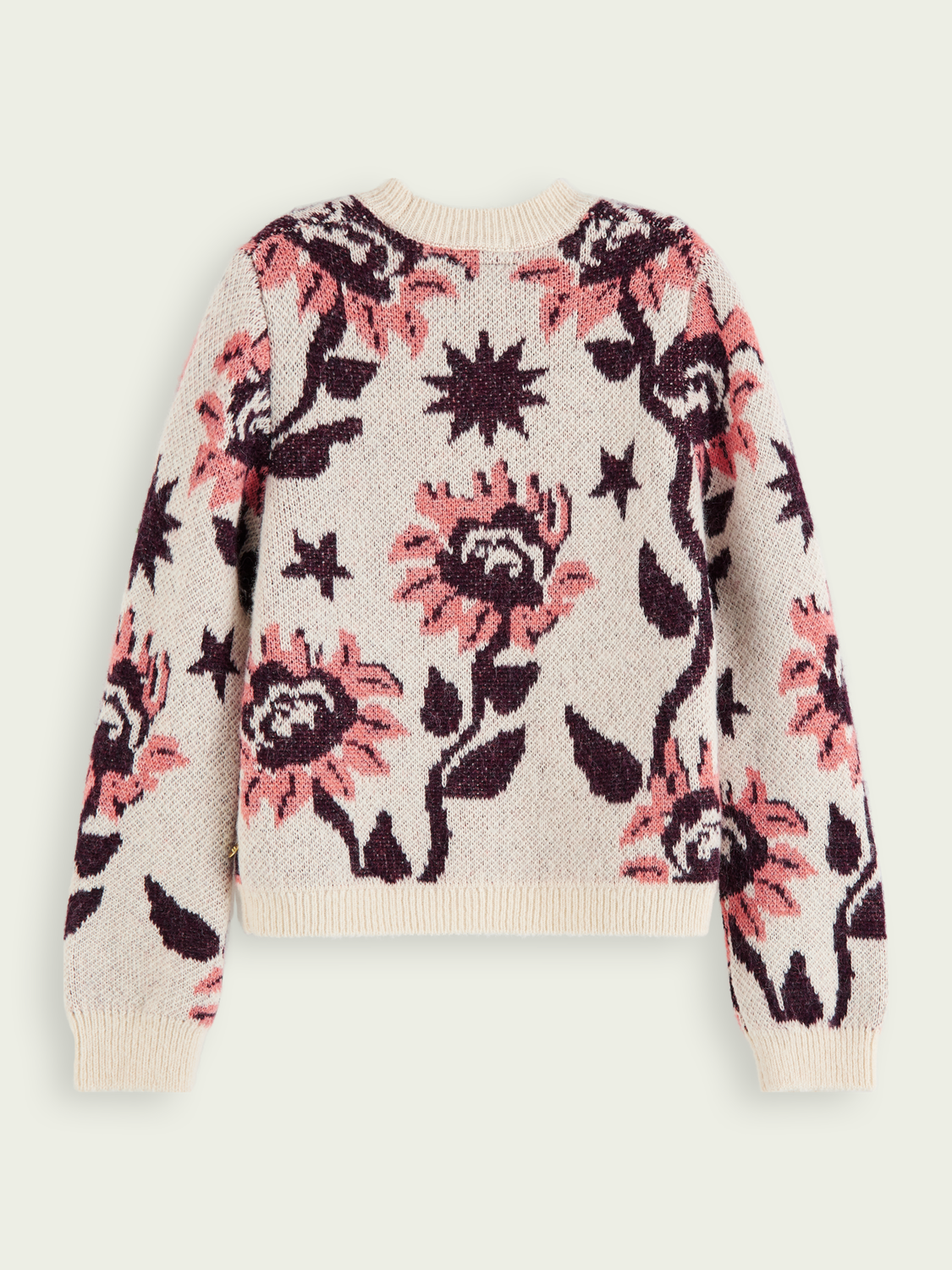Girls Boxy fit folklore knit pullover