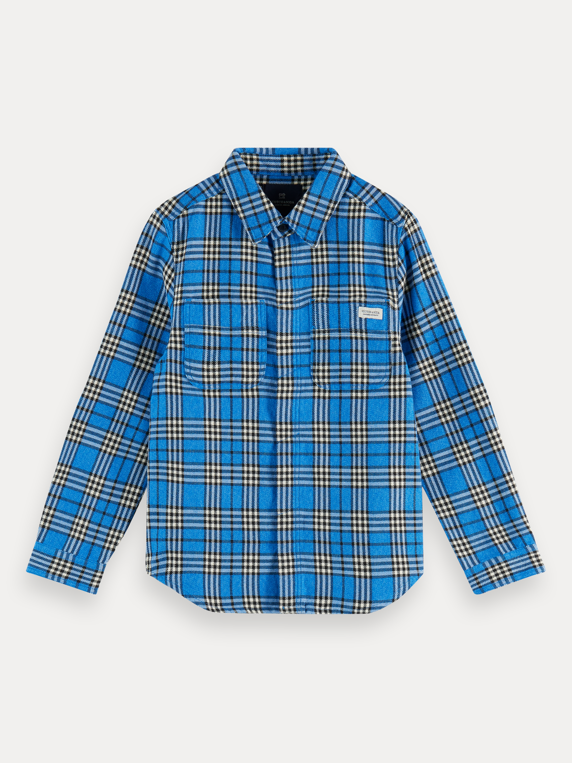 Boys Checked long sleeve cotton flannel shirt