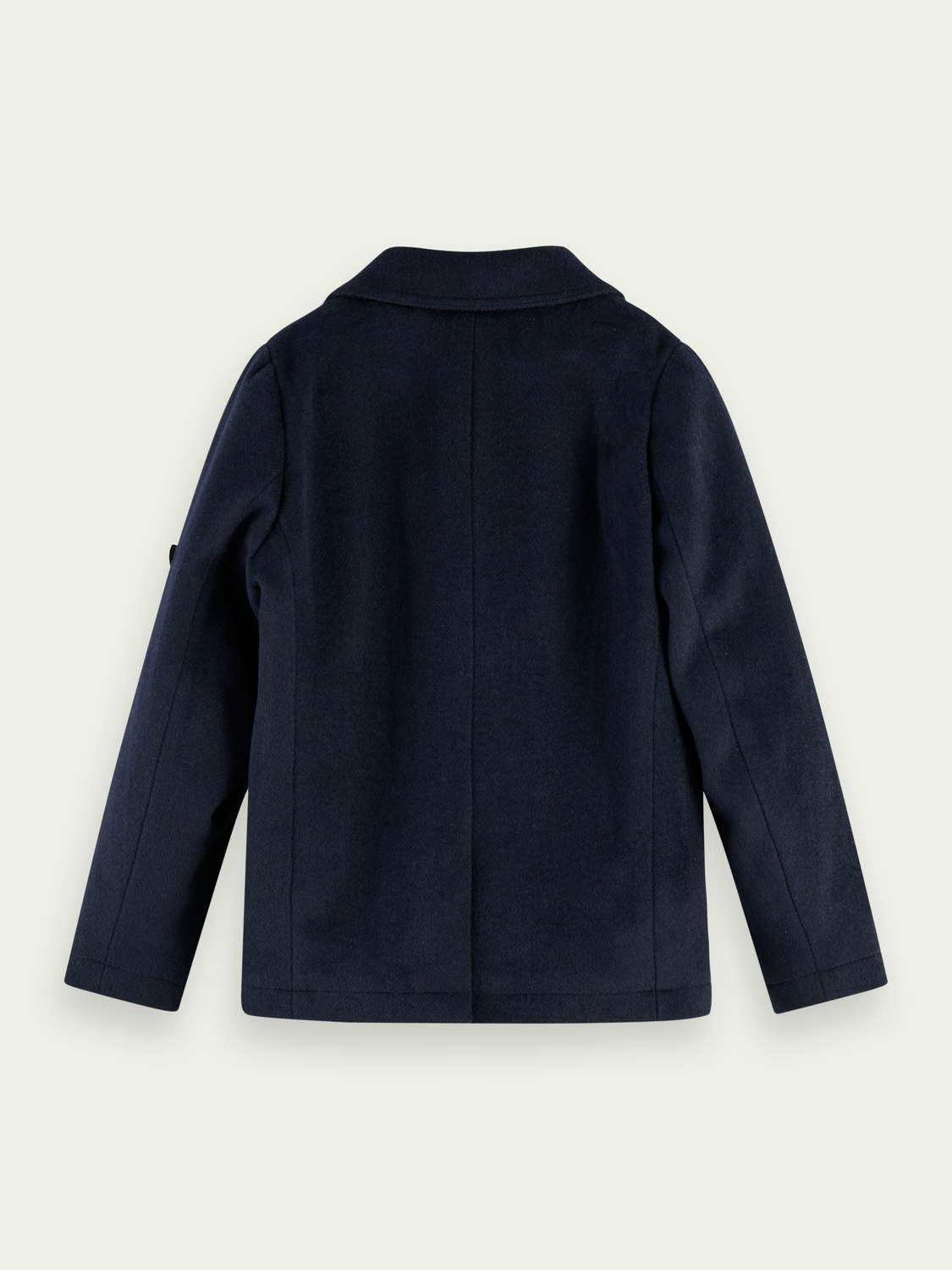 Kids Wool-blend jacket with detachable collar