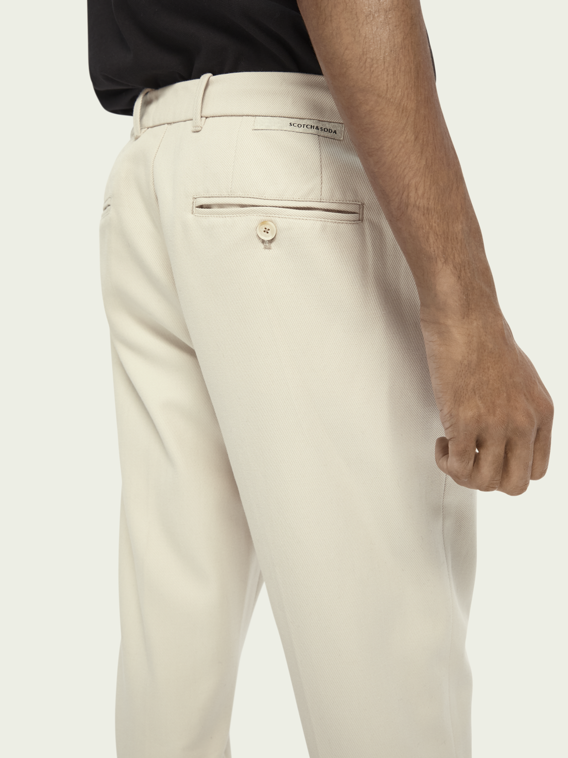 Herrar FAVE - Chinos i ylle/bomull | Tapered fit