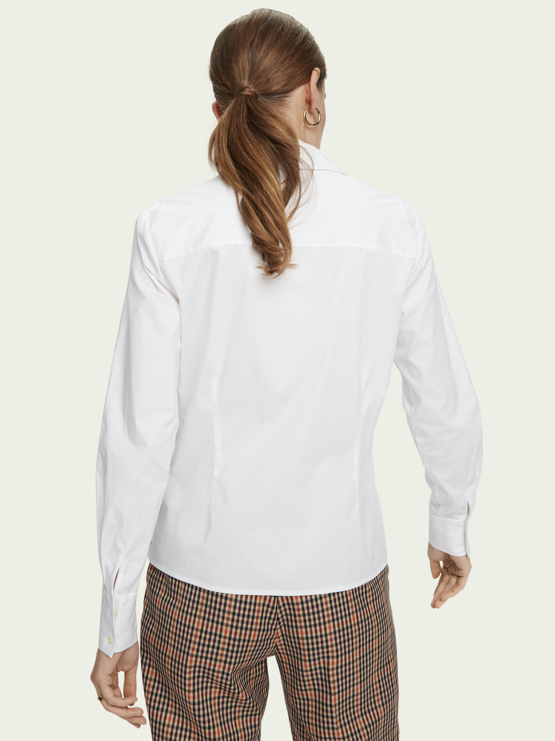 Women Slim fit stretch cotton classic shirt