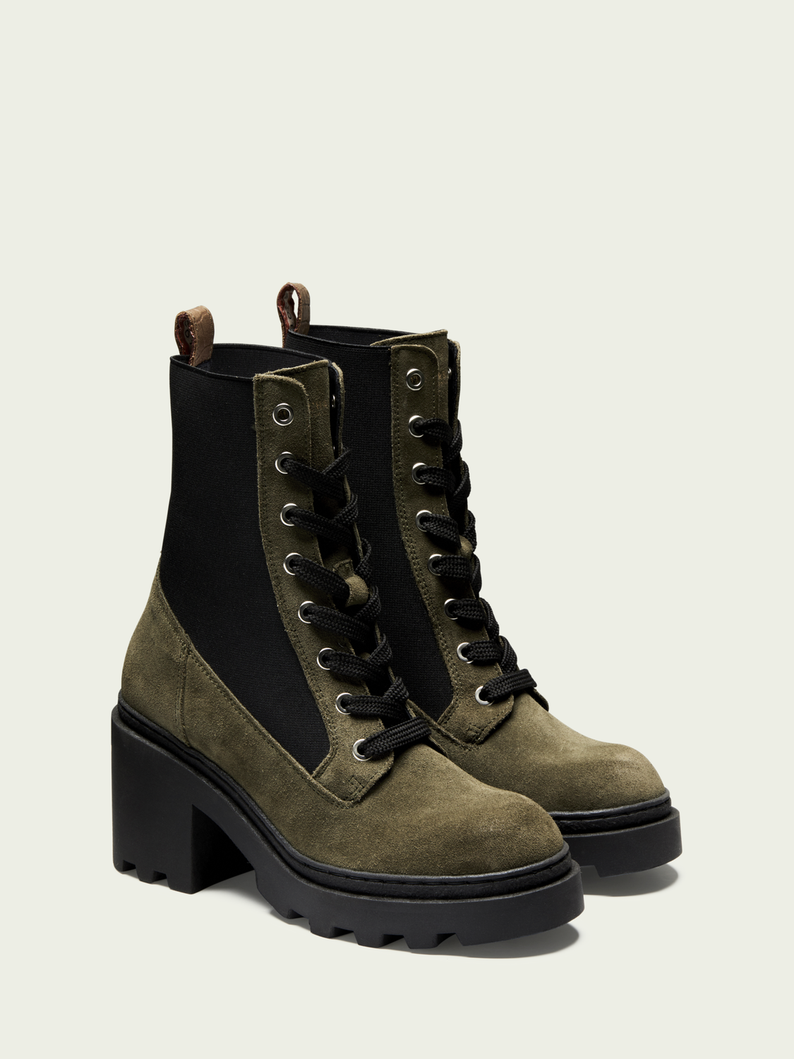Women Calista - lace-up suede boots
