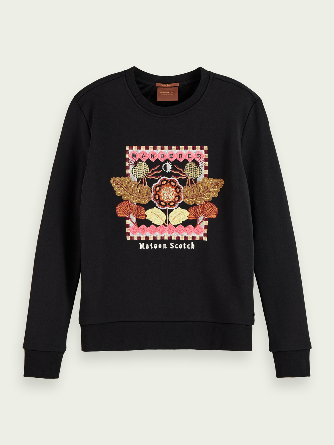 Women Embroidered cotton-blend sweatshirt