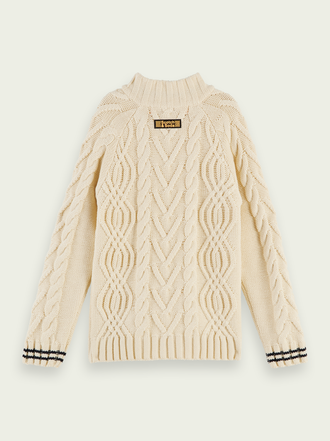 Boys Half-zip cable knit pullover
