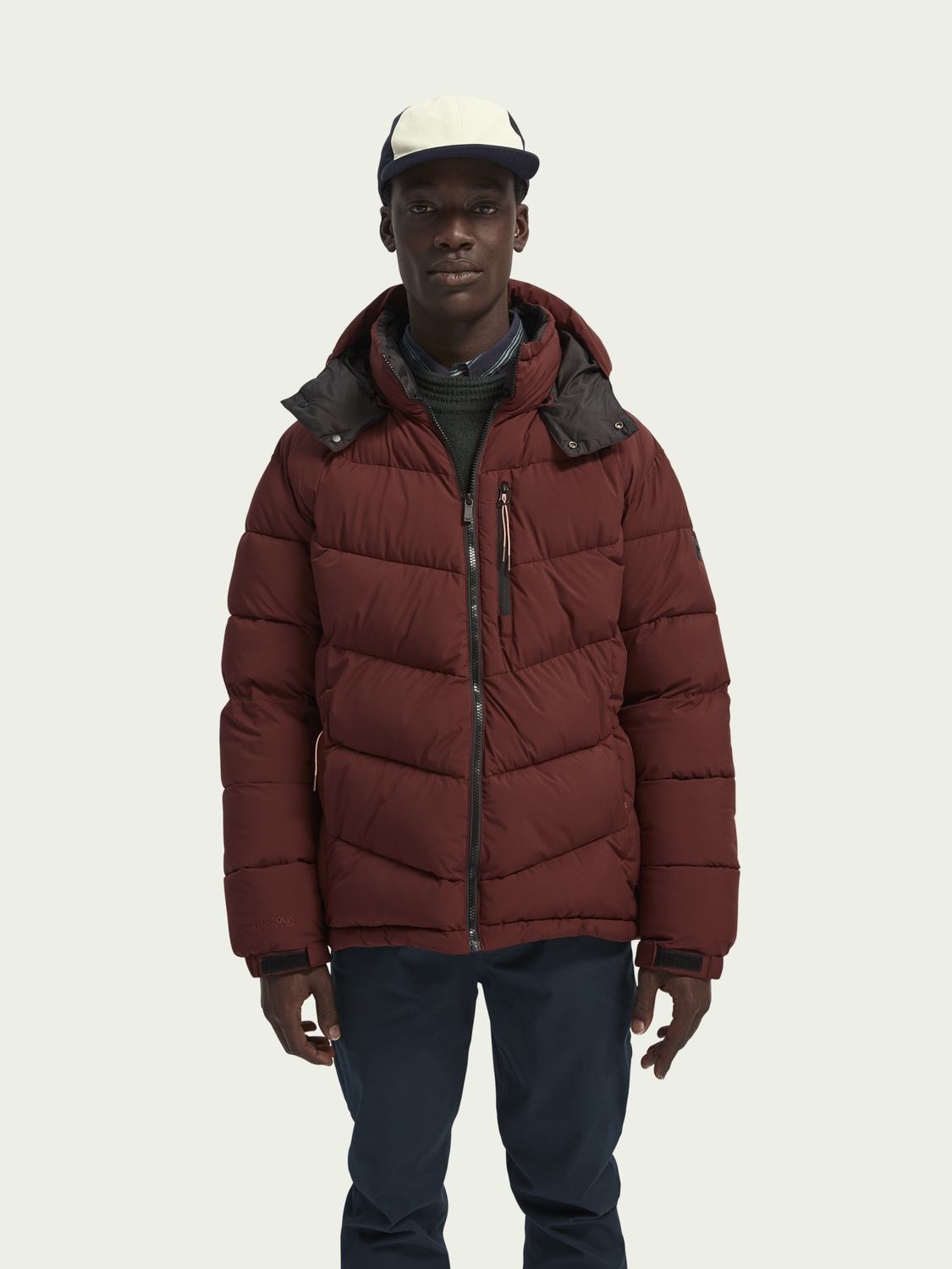 Men Mid-length padded jacket