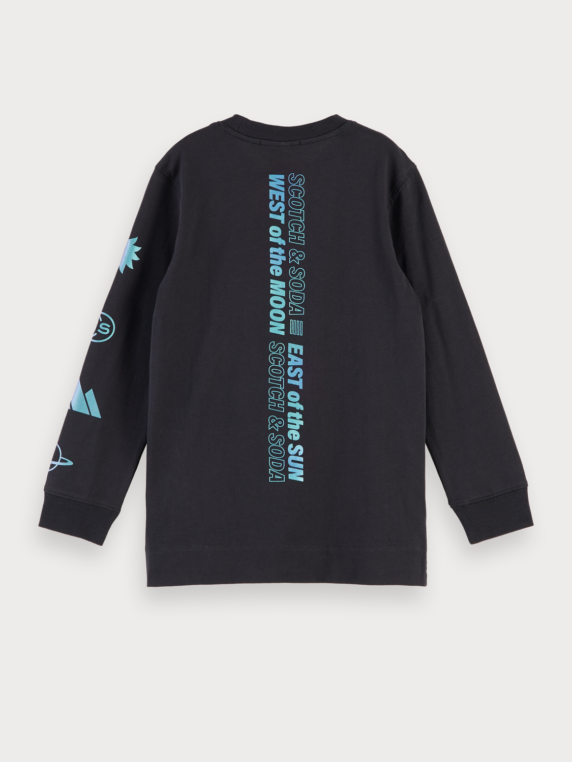 Boys 100% cotton long sleeve artwork t-shirt
