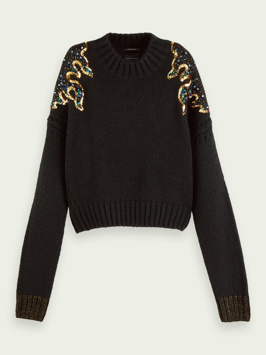 Women Flame detail knitted pullover