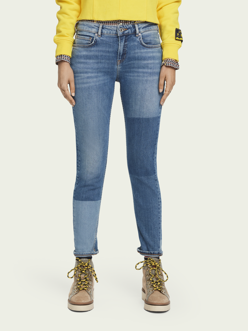 Scotch & Soda The Keeper - City Patchwork   Mid rise slim fit jeans