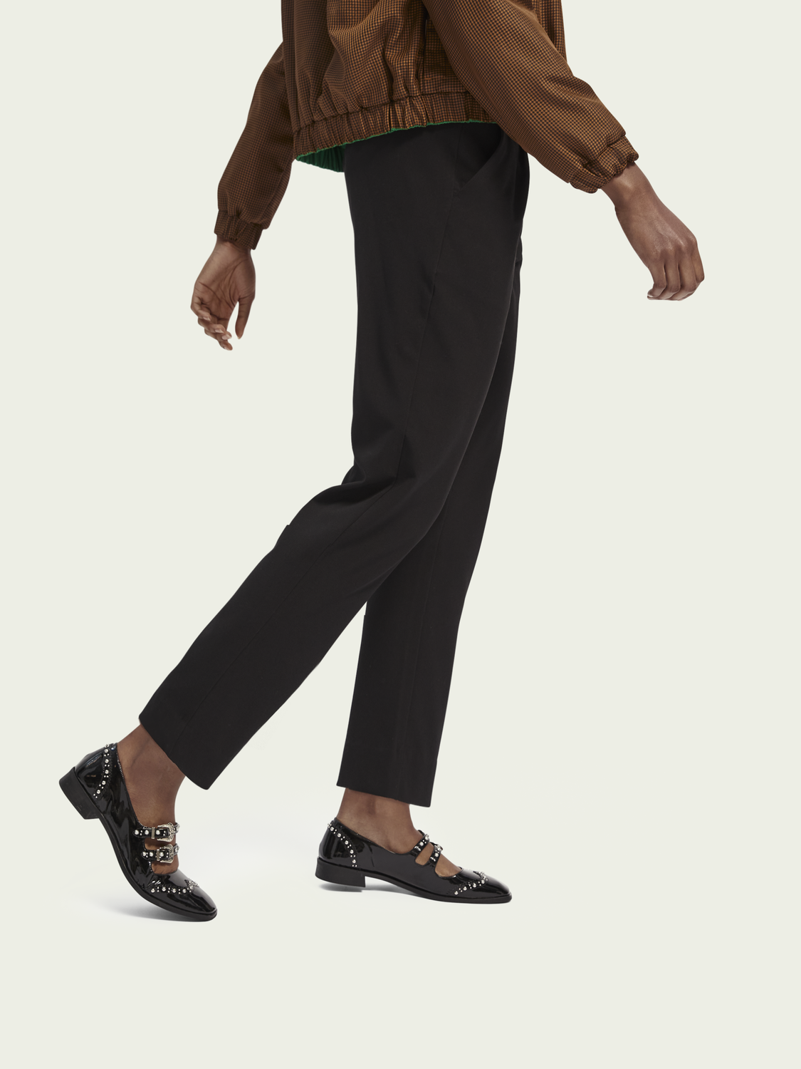 Women Mid-rise tailored stretch pants