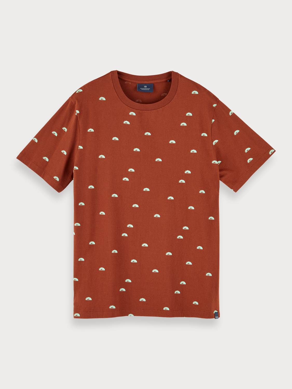 Heren Sustainable cotton t-shirt with all over print