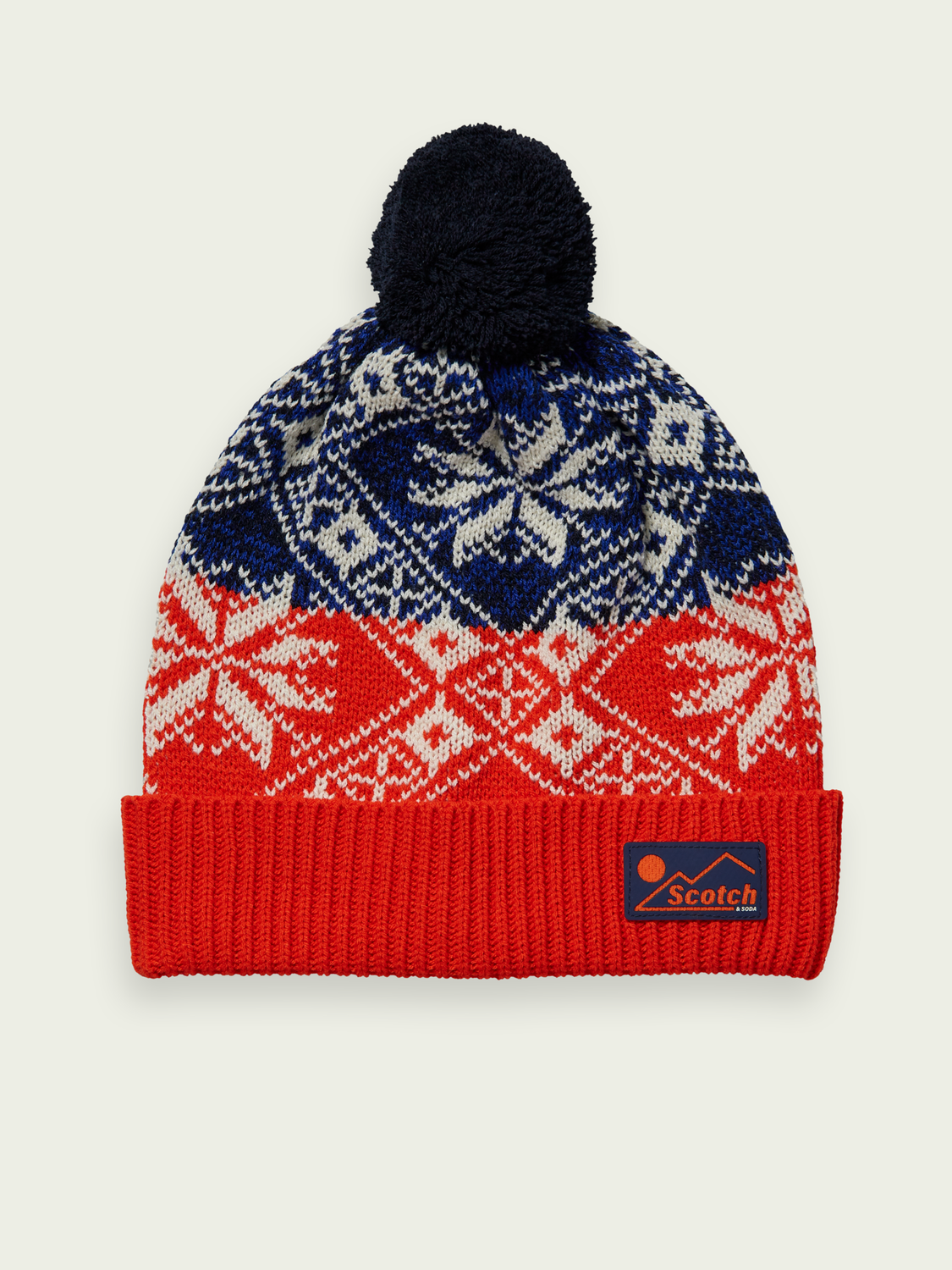 Kids Colour block intarsia patterned beanie