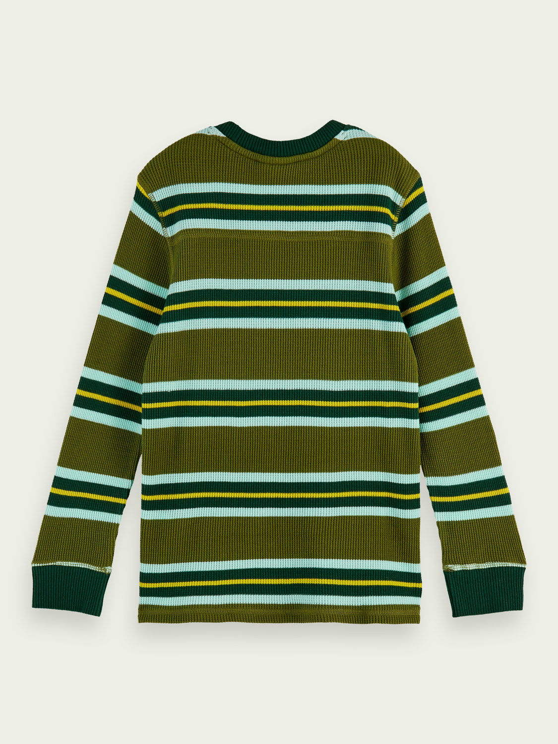Boys 100% cotton long sleeve waffle t-shirt