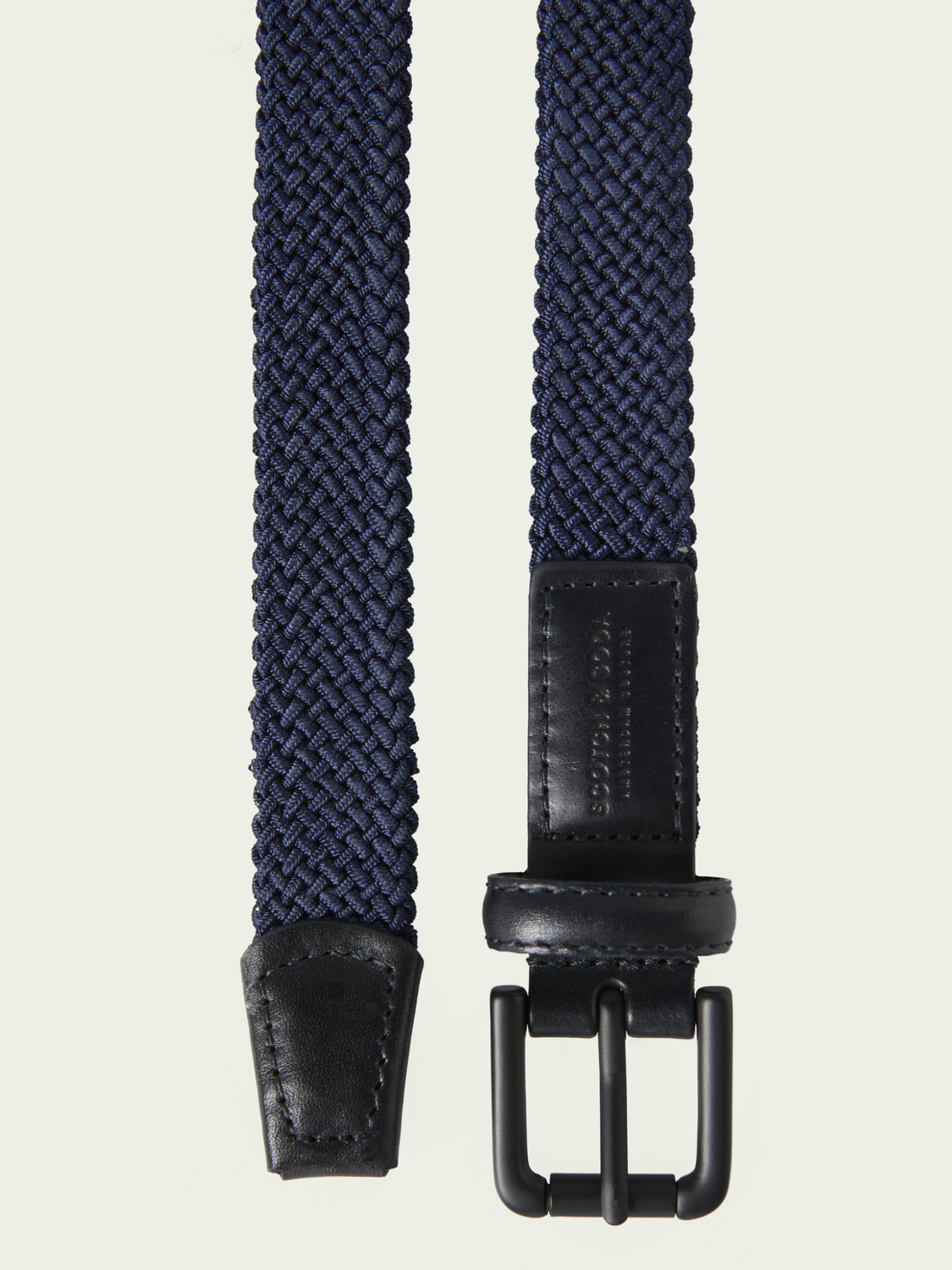 Boys Braided belt with leather finishes