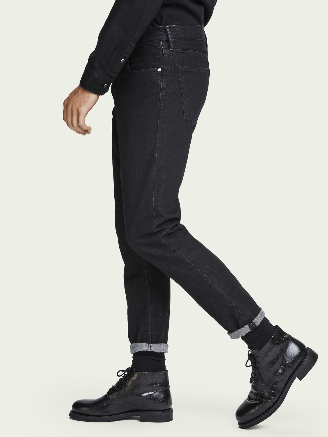 Men The Norm - Clean Black | High-rise straight fit jeans