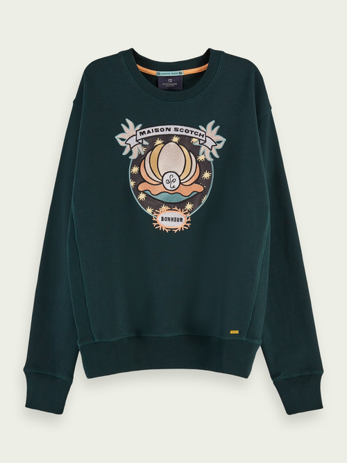 Scotch & Soda LONG SLEEVE COTTON ARTWORK SWEATSHIRT