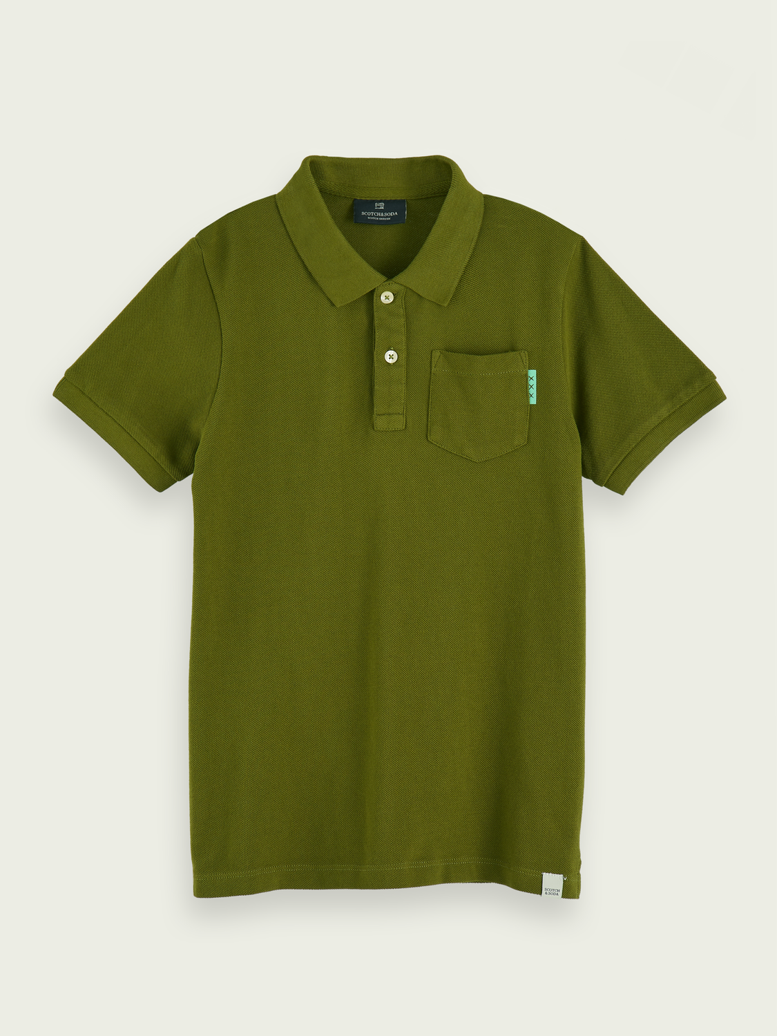 Boys 100% cotton short sleeve pocket polo shirt