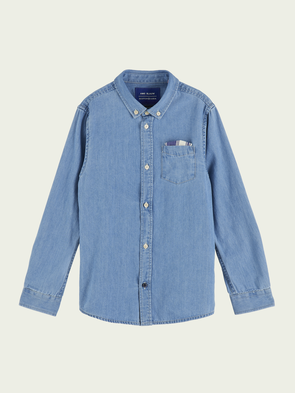 Kids Cotton long sleeve denim shirt