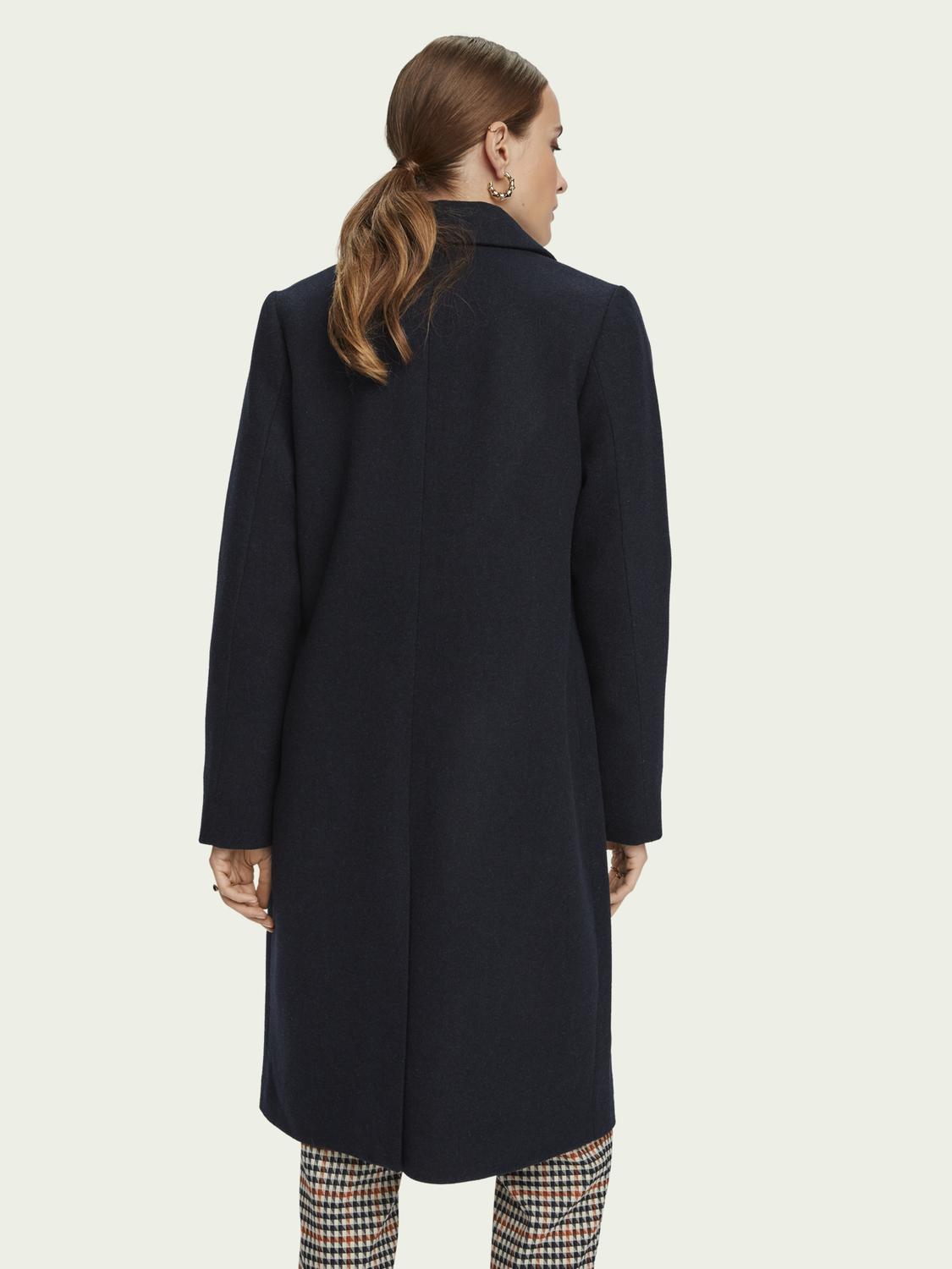 Women Wool-blend double breasted tailored coat