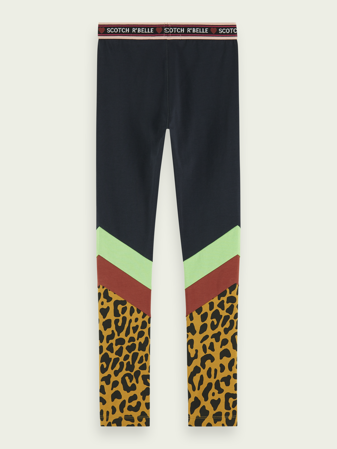 Girls Cotton-blend colour block legging
