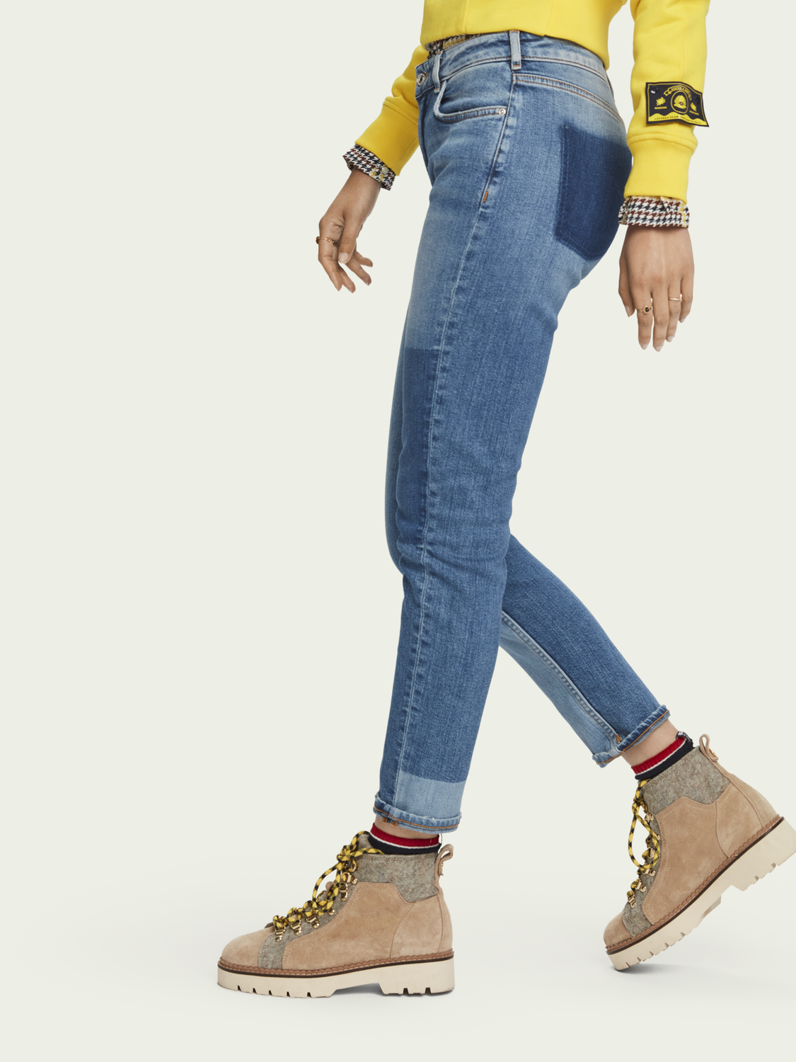 Women The Keeper - City Patchwork | Mid-rise slim-fit jeans