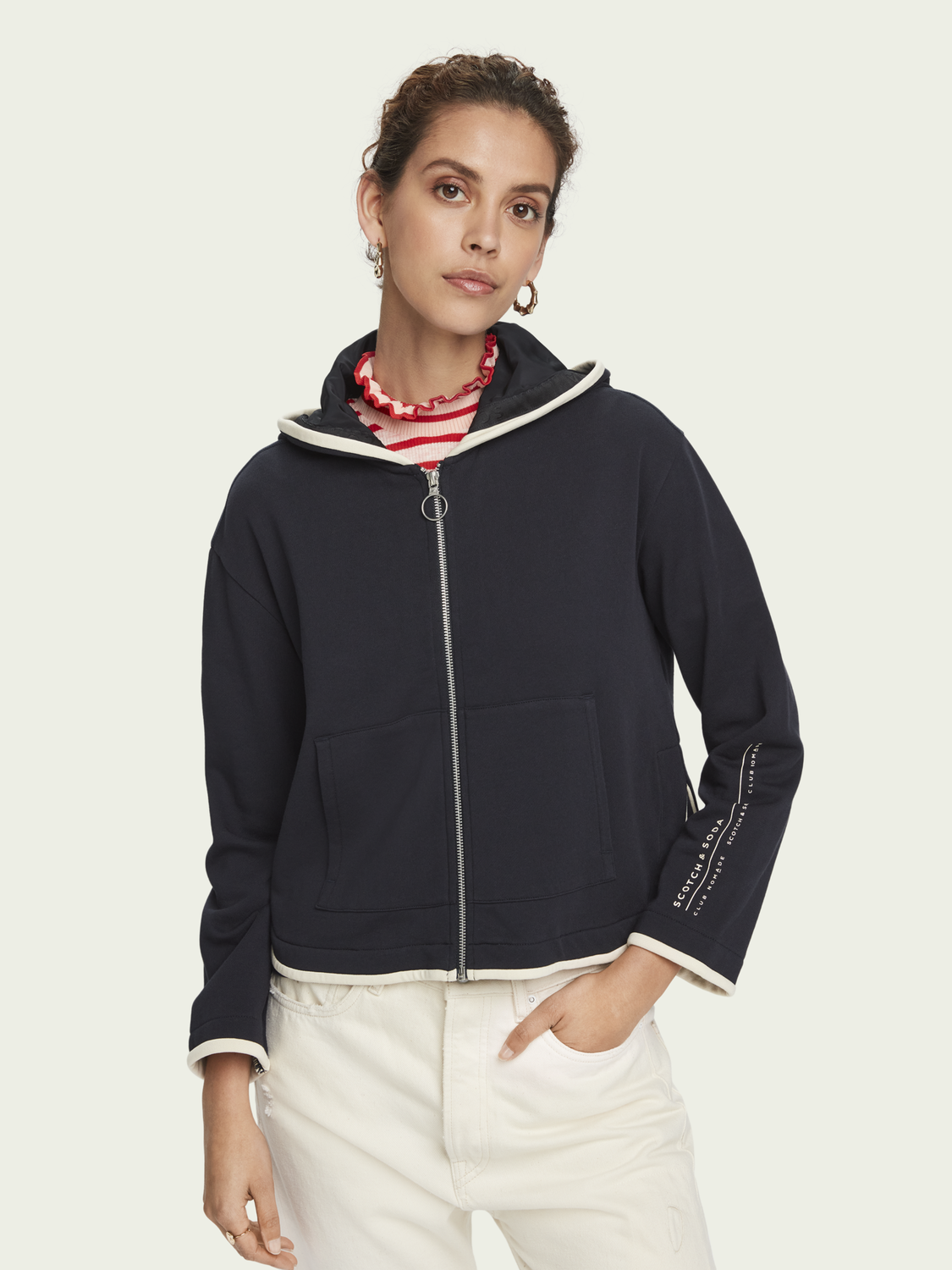 Women Hooded zip up sweatshirt