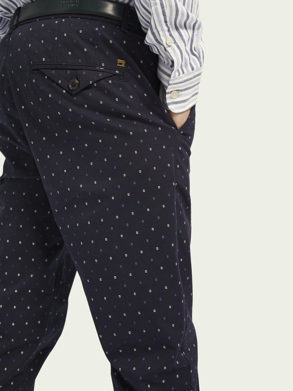 Heren MOTT – Klassieke twill chino | Super slim fit