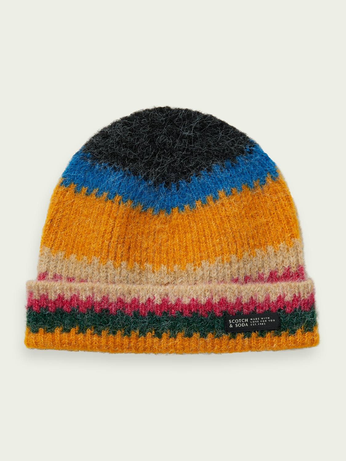 Men Wool-blend striped beanie