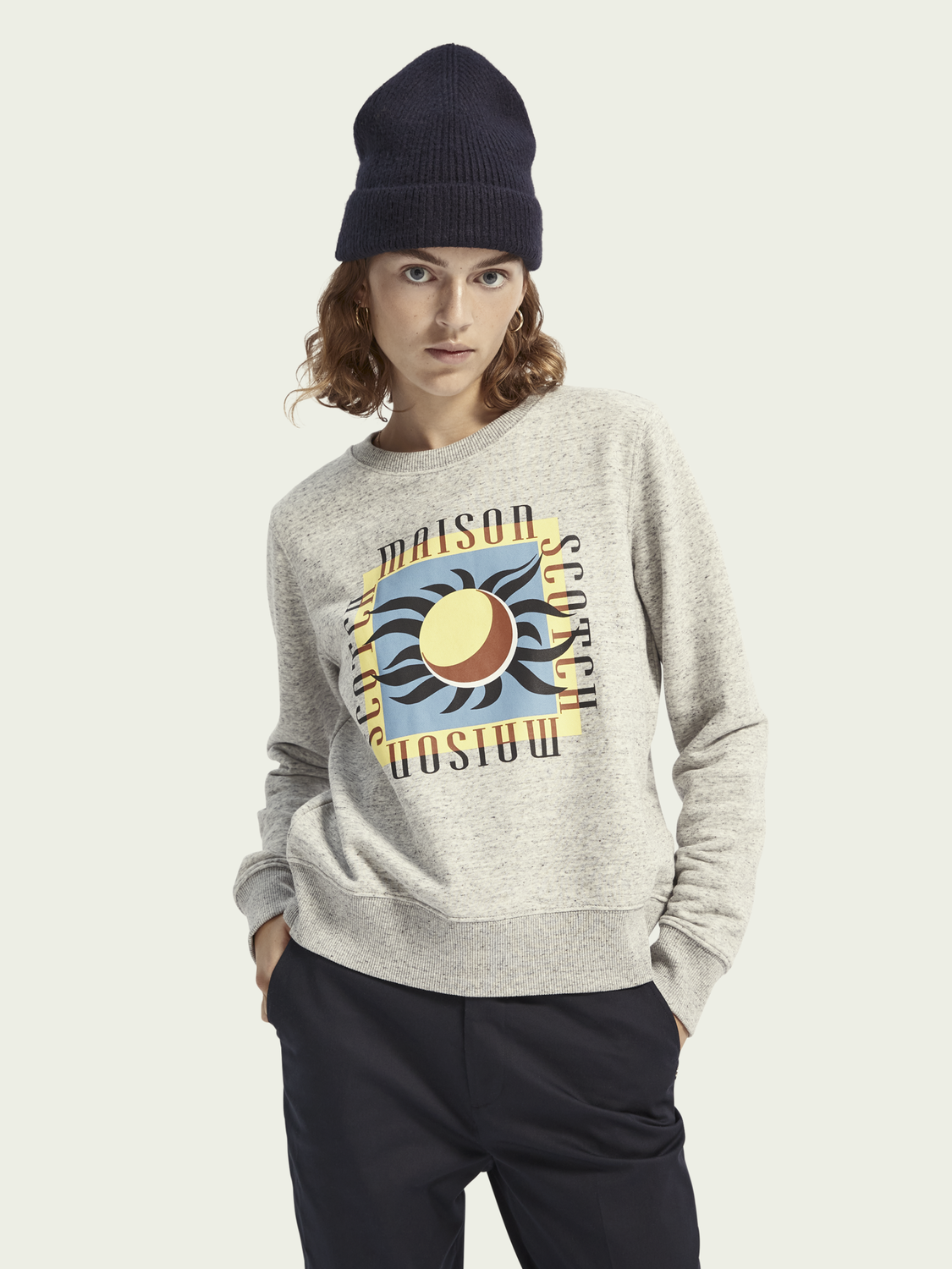 Regular Fit Cotton Blend Sweatshirt Sweatshirts Scotch Soda Fitting into all sorts of financial stature, these regular fit jeans for women are something that your closet is dying to have now. regular fit cotton blend sweatshirt
